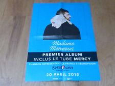 MADAME MONSIEUR - EUROVISION 2018  !!RARE FRENCH PROMO POSTER