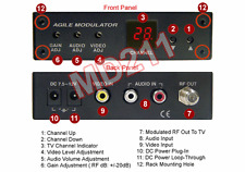 Full-Channel RCA Video Audio To RF Coax Channel Modulator CH2-138 MD211