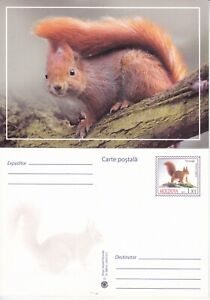 2015  Moldova  Animals The Squirrel  Pre-paid postcard