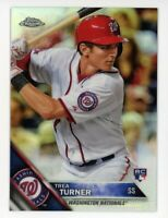 2016 Topps Chrome TREA TURNER Rookie Card RC REFRACTOR #32 Washington Nationals