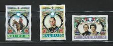 Nauru Sc#257-9 MNH Visit of Queen Elizabeth II and Prince Philip