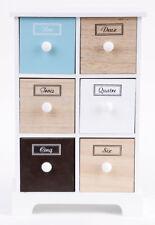 Arti casa Schrank mit 6 Schubladen multi color Schränkchen Kommode Schubladensch