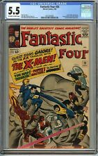 Fantastic Four #28 CGC 5.5 X-MEN PUPPET MASTER app Jack Kirby Cover Marvel Comic