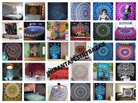 15 PCS Wholesale Lot Indian Mandala Tapestry Wall Hanging Decor Twin Bedspread
