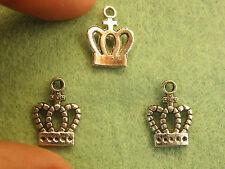 20 Crown Charms Pendentifs Tibétain Argent Antique Tone Jewelry Making Wholesale