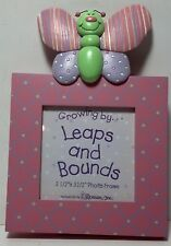 """Roman, Inc. """"Growing by.Leaps and Bounds photo Frame 7"""" x 5"""" Butterfly"""