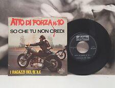 """I RAGAZZI DEL SOLE - ATTO DI FORZA N. 10 7"""" 45 GIRI VG+ BEAT ITA 1966 ARISTON"""