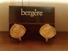 Bergere gold leaf clip on earrings