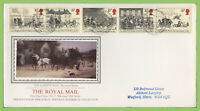 G.B. 1984 Royal Mail Coach set on PPS Silk First Day Cover, Bureau