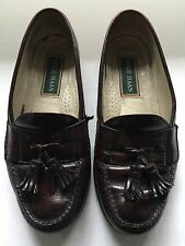 Cole Haan Pinch Tassel Loafers US 7.5 D Wide Brown Leather Mens Dress Slip On