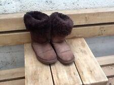 Ugg Australia Chocolate Brown Boots Classic Tall 5815 Size W 6 EU 39 Used