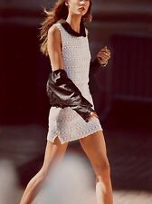 NWT Free People Thrifty Eyes Crochet Mini Dress Sz M White FP Beach
