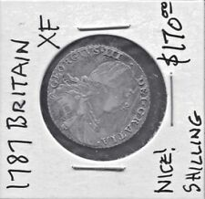GREAT BRITAIN - FANTASTIC HISTORICAL GEORGE III SHILLING, 1787, NO STOPS AT DATE