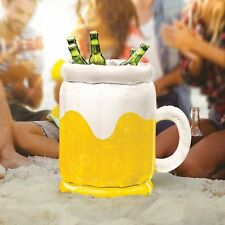 "16"" Inflatable Beer Bucket Drinks Cooler Party Beach Outdoors Pool Bottle Holder"