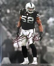 Khalil Mack,  DE Oakland Raiders 8x10 autographed photo RP