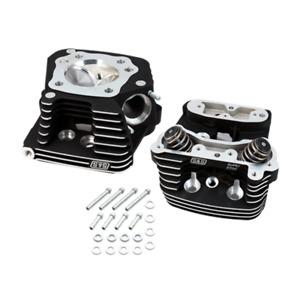 S&S Black Super Stock Replacement Cylinder Head Kit Harley Evolution Evo 84-99