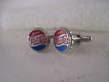 Pepsi Cola   cap logo  pair cufflinks     (**827  15)