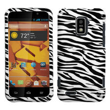 For Boost Mobile Warp 4G ZTE N9510 HARD Protector Case Phone Cover Zebra