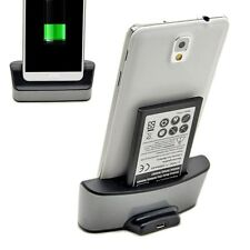 Dual Battery Charging Dock Cradle Station Charger For Samsung Note 3 N9000 N9005