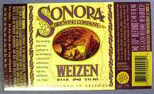Sonora Brewing Co WEIZEN BEER label AZ 12oz