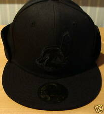 Cleveland Indians Custom New Era Hat Cap 7 3/8 Black