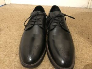 John White Handcrafted Oxford Shoes Black Leather Size UK 10 / EU 44