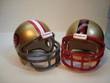(2) San Francisco 49ers Riddell Pocket Pro Football Helmets, Traditional style
