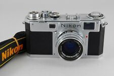 Exc++++ Nikon S2 Late Model Black Dial w/ H.C 50mm f2 Lens from Japan a597