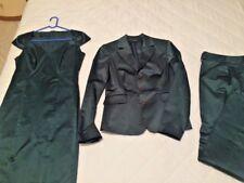 Giacca +pantalone+ Tubino raso verde bosco - NADINE NUOVO