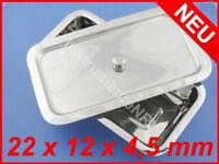 Instrumentenwanne Box mit Deckel Edelstahl-Schale Behälter 22 x 12 x 4,5 cm