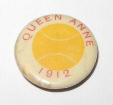 1912 Baseball Pin Coin Queen Anne High School Little League Booster Pinback