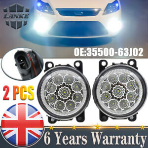 2PCS 9LED Front Fog Light DRL Lamps For Ford Fiesta Focus Transit Connect Custom