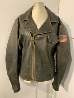 VINTAGE 80's VICTORY MOTORCYCLES LEATHER JACKET SIZE XL