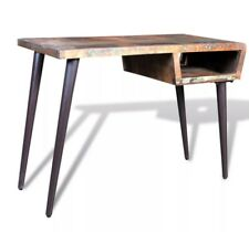 Vintage Office Desk Retro Industrial Table Reclaimed Solid Wood PC Furniture