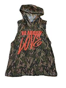 Zumba Dance Be About Love Sleeveless Hoodie - Army Green - Z1T01755 Size Medium