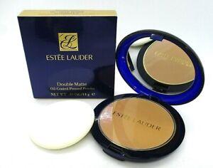 Estee Lauder Double Matte Oil-Control Pressed Powder ~07 Deep Warm Intensity 7