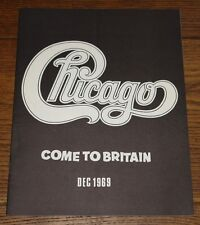 CHICAGO TRANSIT AUTHORITY COME TO BRITAIN OFFICIAL UK TOUR PROGRAMME DEC 1969