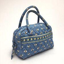 Vera Bradley Toastie Quilted Purse Satchel Handbag Bees Retired Pattern Blue