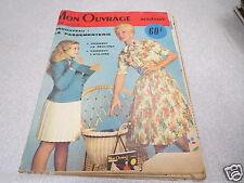 MON OUVRAGE MADAME N° N°128 mai 1959 la passementerie comment la realiser comme*