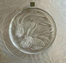 Lalique 1975 Fish Duo de Poisson Duet Art Glass Collector Plate