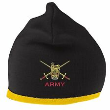 British Army Beanie Hat with Embroidered Logo