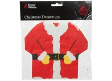 Snow White Novelty Santa Suit Napkins - Christmas Festive Decoration - 20 pc