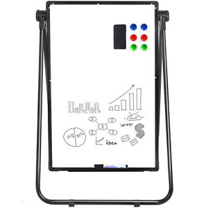 Large Whiteboard on Wheel Single-sided Magnetic Mobile Frame with Stand 36*24