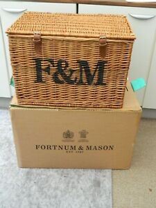 fortnum and mason  very large wicker hamper basket / coffee table /toy storage