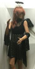 Dark Angel Goth Party Fairy Teen Costume Adult Medium 10-12