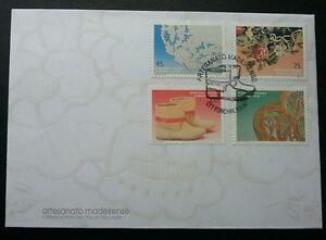 Portugal Handicrafts 1994 Art Flower Shoe Pattern (stamp FDC)