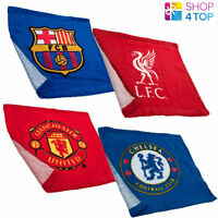 OFFICIAL FOOTBALL SOCCER CLUB TEAM FACE CLOTH GYM TRAINING TOWEL 100% COTTON NEW