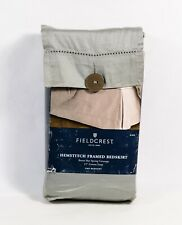 "Fieldcrest Skyline Gray King Hemstitch Framed Bedskirt 15"" Cotton Drop"