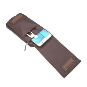 for Cubot R19 (2019) Multi-functional XXM Belt Wallet Stripes Pouch Bag Case ...