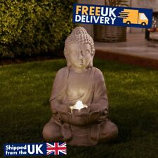Buddha Statue Water Feature LED Light Up Patio Outdoor Garden Ornament